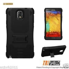 BLACK/BLACK RUGGED SHOCKPROOF CASE W/STAND MULTI-LAYER COVER FOR SAMSUNG NOTE 3