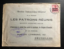 1910s Bruxelles Belgium Germany Occupation Advertising cover domestic used