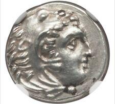 MACEDONIAN KINGDOM. Alexander III the Great NGC Choice AU 5/5 - 3/5, scratches.