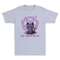 Satan Don¡¯t Make Me Hex You Cat Men's Funny Cotton Short Sleeve T-Shirt