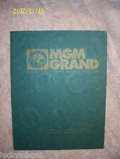 MGM Grand Theme Park 1st Edition Token Collectable Book