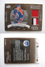 2008-09 UD Artifacts TSD-GA Glenn Anderson 1/1 treasured swatches jersey patch