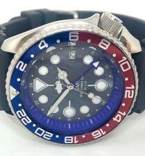 Seiko Diver Watch 7002 GMT Quartz - Pepsi bezel - chrome hands - 1120