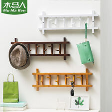 AU 6/8 Hook 360° Rotating Coat Rack Wall Mount Rail Entryway Hat Clothes Towel .