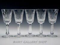 "Ireland Crystal CASTLEMAINE STYLE 6-7/8"" WINE GOBLETS GLASSES Set of 5"