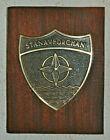 NATO STANAVFORCHAN plaque crest Royal Navy RN OTAN Stan's Navy