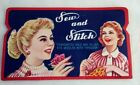 Vintage+1950%27s+Sew+and+Stitch+Folder+with+Assorted+Needles+%26+Threader