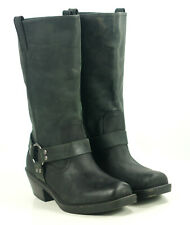 Mossimo Black Leather Square Toe Harness Biker Motorcycle Boots Women's 10