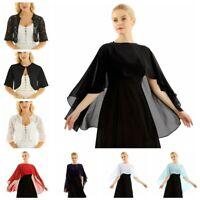 Womens Lace Cropped Evening Shrug Bolero Top Cardigan Jacket Shawl Capes Wraps