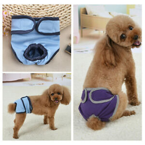 Adjustable Pet Female Dog Puppy Nappy Diaper Pants Sanitary Panties Underwear