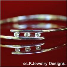 0.35 Ct ROUND FOREVER ONE GHI MOISSANITE BANGLE BRACELET