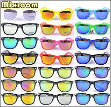 Occhiali Da Sole Uomo Donna Nerd Wayfarer Vintage Lenti Specchio Multicolore