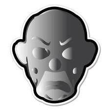 "Clown Gray 3D Evil Sad car bumper sticker decal 4"" x 4"""