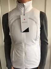 Lululemon Size 4 Run For Cold Vest Jacket White Zip Hoodie NWT Primloft Speed