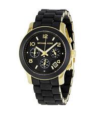 Michael Kors Quarz-(Batterie) Armbanduhren aus Silikon/Gummi und Edelstahl