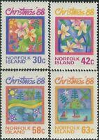 Norfolk Island 1988 SG448-451 Christmas set MNH