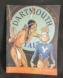 DARTMOUTH VS YALE OCTOBER 25 1941 OFFICIAL PROGRAM CHESTERFIELD COKE AD