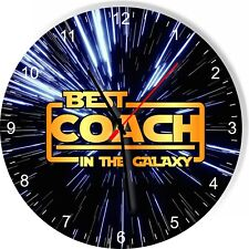 Best Coach in the Star Galaxy Wars Space Kitchen Living room Wall Clock