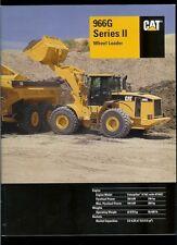 Rare Orig Factory 2003 Caterpillar 966G Series II Wheel Loader Dealer Brochure