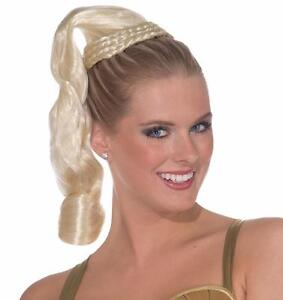 Goddess Hair Piece Wig Fancy Dress Up Halloween Costume Accessory 4 COLORS