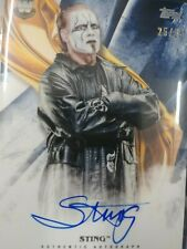 Sting Autograph Card 25/25 Blue Parallel WWE Undisputed 2019 Topps