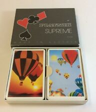 VINTAGE? PIATNIK SUPREME 2 X 54 PLAYING CARDS-DBL DECK-AUSTRIA-HOT AIR BALLOONS