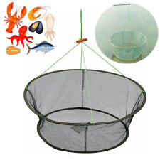 "33"" Foldable Fishing Bait Trap Crab Net Crawdad Shrimp Cast Dip Cage Fish Minnow"