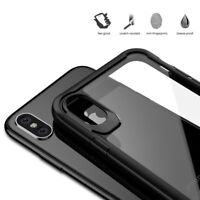 Shockproof Clear Ultra Slim Bumper Hard Phone Case Cover For Apple iPhone X XS