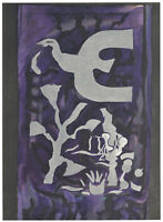 "Georges BRAQUE Original Color Lithograph ""Chapelle St. Bernard"" Purple Bird 1964"