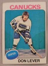 1975 Topps Don Lever Vancouver Canucks #206 Hockey Card ex