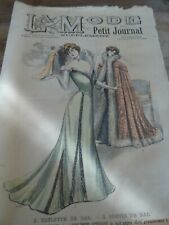 ANCIENNE REVUE LA MODE DU PETIT JOURNAL  AVEC PATRON VESTE POUR ENFANT N°2 1901