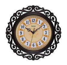 Wall Clock,15.5'' Vintage Clock for Home/Kitchen Decoration - Dark Brown
