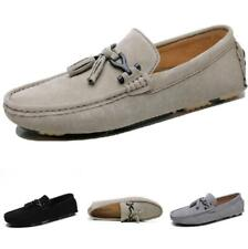 Mens Faux Leather Shoes Slip on Pumps Loafers Tassels Driving Moccasins Casual L