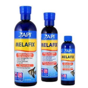 API Melafix 118ml 237ml 473ml Aquarium Fish Tank Anti Bacterial Ulcer Eye