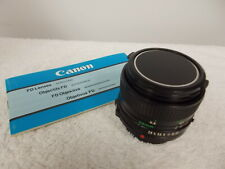 Canon FD 28mm F/2.8 Wide Angle Lens Caps & Instruction Booklet Made In Japan