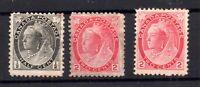 Canada 1897 QV 1/2c & 2c DIE I & II mint MH WS15038