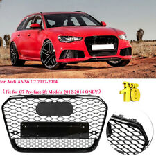 For Audi A6/S6 C7 12-14 Front Bumper Grille RS6 Quattro Style Honeycomb Grill UK