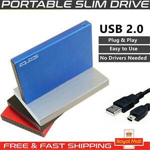 External Hard Drive USB 2.0 160GB 250GB 320GB 500GB 1TB SMART TV Games MAC PC