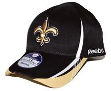 New Orleans Saints Reebok TW94Z NFL Sideline Workout Warrior Flex Fit Cap  S M 6f83f7a6f