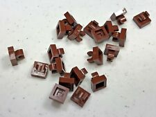 New Reddish Brown LEGO Tile Modified 1 x 1 with Clip Rounded Edges 15712 (x20)