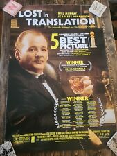 Lost In Translation Movie Theater Poster, Original. Bill Murray. 2 sided 27x40