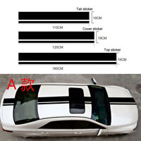 3 Stück Streifen Aufkleber Auto Seite Körper Hood Dekoration Sticker DIY Schwarz