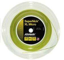 Ashaway Supernick Xl Micro Optic Yellow Squash Racket String - 110m Reel