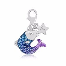 Tingle Fish clip on Sterling Silver Charm with Gift Box and Bag SCH310