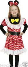 Girls Minnie Mouse Style Fancy Dress Costume Outfit Age 7-9 Years