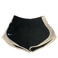 NWT Nike Dri-Fit Tempo Lined Running Shorts Black White Mesh Women's Size Large