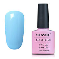 CLAVUZ Nail Gel Polish Soak Off UV LED 10mL Top Base Coat DIY Manicure Lacquer