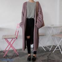 Sweet Ladies Korean Knitted Cardigan Jacket Loose Fit Full Length Outwear Coats
