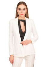 RRP €340 ARMANI JEANS Blazer Jacket Size 38 / XS Open Front Notch Lapel Collar