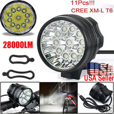 28000LM 11 x CREE XM-L T6 LED 8 x 18650 Waterproof Bicycle Cycling Light Lamp